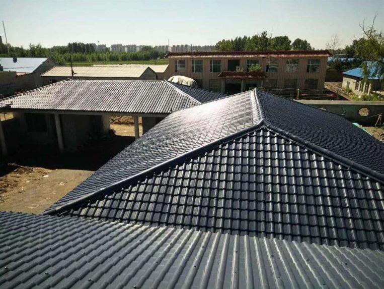 农村房屋升级,平改坡工程,屋面仿古瓦
